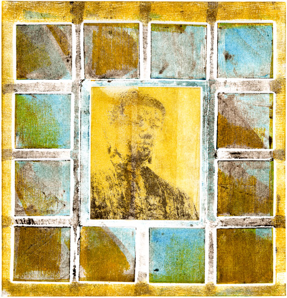 Buddha Collagraph 3